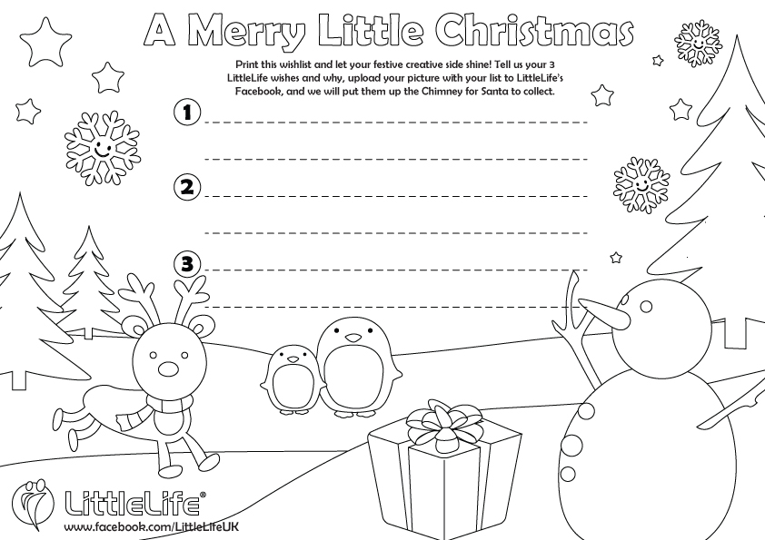 LittleLife\u0027s 2015 Christmas Competition - christmas wishlist template