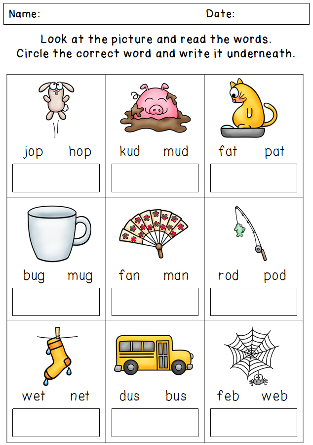 Phonics Worksheets - Assessment and Revision Packet - Little