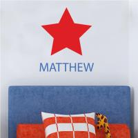 Star Personalised Wall Sticker