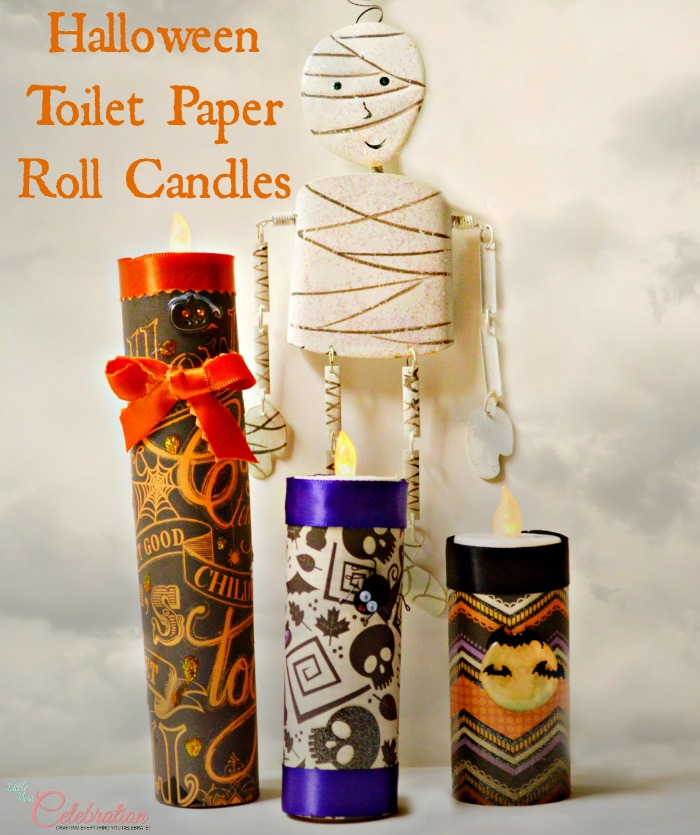 "Halloween Toilet Paper Roll ""Candles"" - fun, fast and cheap! #crafts #Halloween"