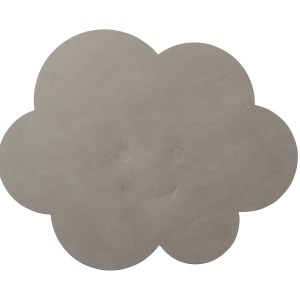 LIND DNA | KIDS CLOUD TABLE MAT, LIGHT GREY