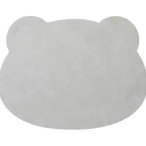 LIND DNA | KIDS FROG TABLE MAT, LIGHT GREY