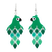 Parrot Green Diamond Earrings