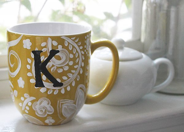 Cute Wallpapers First Initial Letter A Creative Diy Painted Mugs Ideas Little Piece Of Me