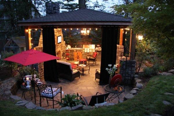 Summer kitchen with fireplace ideas - LittlePieceOfMe - summer kitchen design