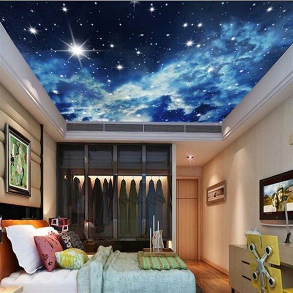 3d Sky Ceiling Wallpaper Alternative For White Ceiling 3d Ceiling Design Ideas