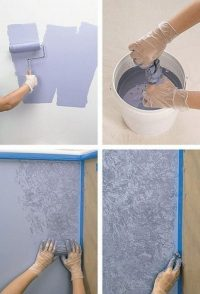 Wall painting techniques
