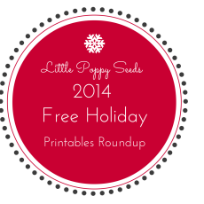 Free Holiday Printables Roundup | 2014