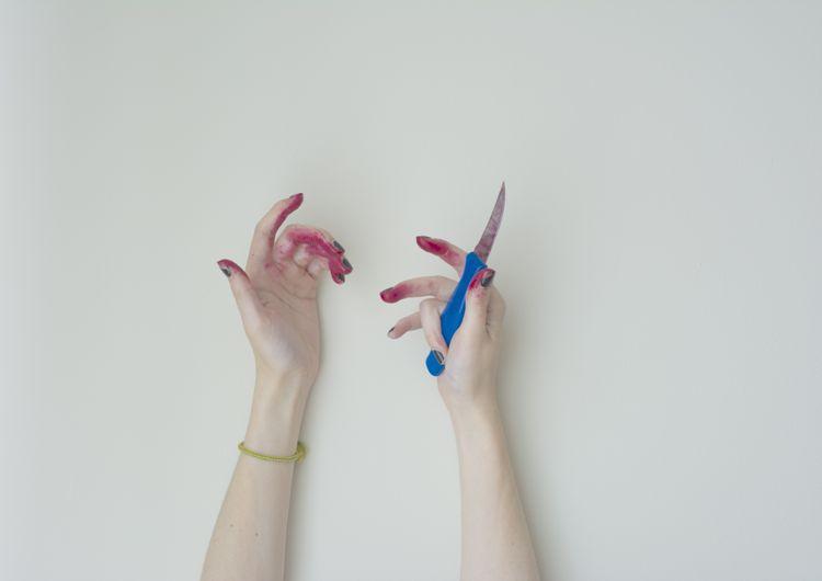 beet-red-hands