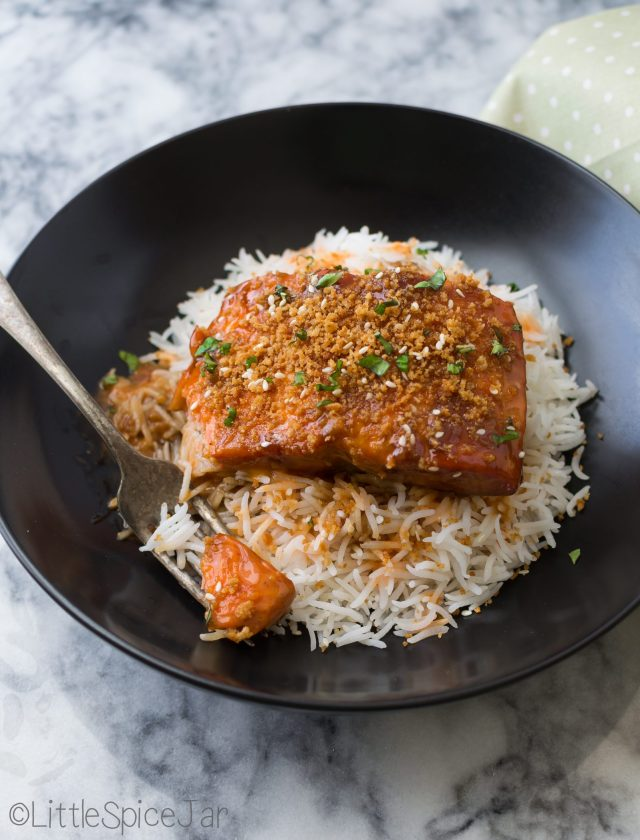 Sweet Asian Teriyaki Salmon with Sriracha Sauce 16