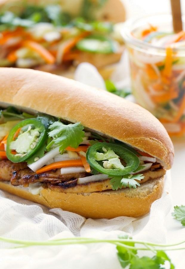 Vietnamese-Chicken-Sandwiches-with-Pickled-Vegetables-(Banh-Mi)-2