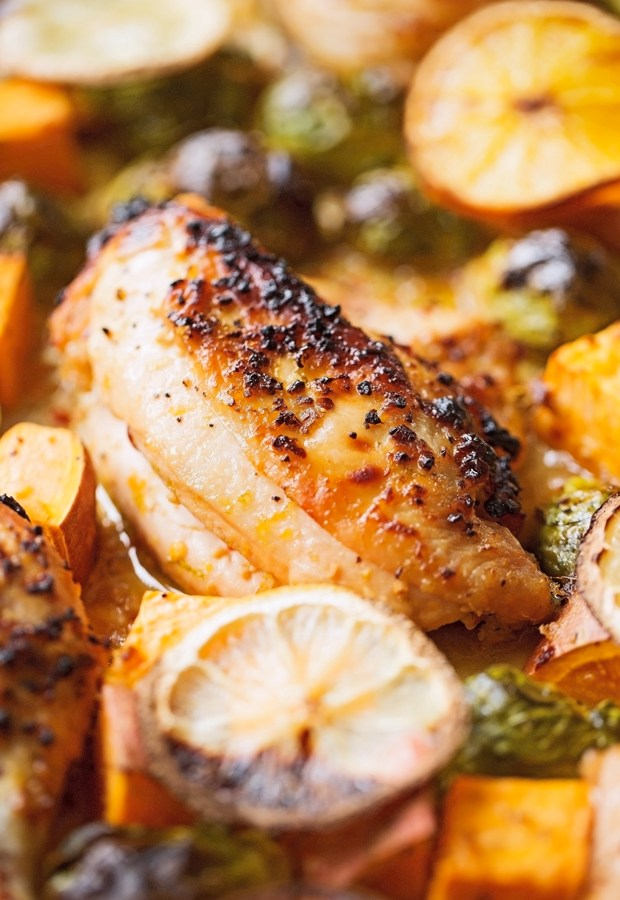 One-Sheet-Pan-Garlic-Citrus-Chicken-with-Bruseel-Sprouts-and-Sweet-Potatoes-6