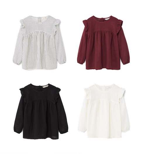 Mango Girls ruffle blouse - LITTLE SPREE