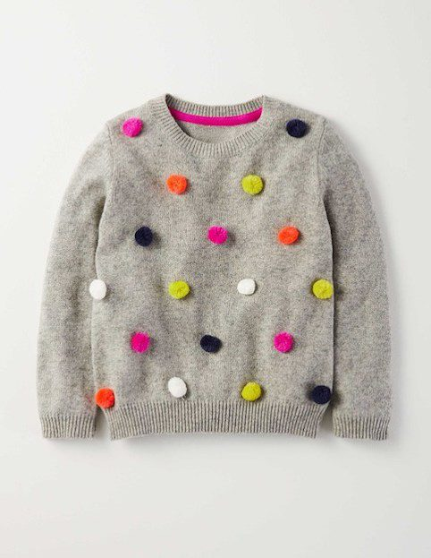 Boden girls pom pom jumper 1 - Little Spree
