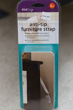 baby proof furniture strap