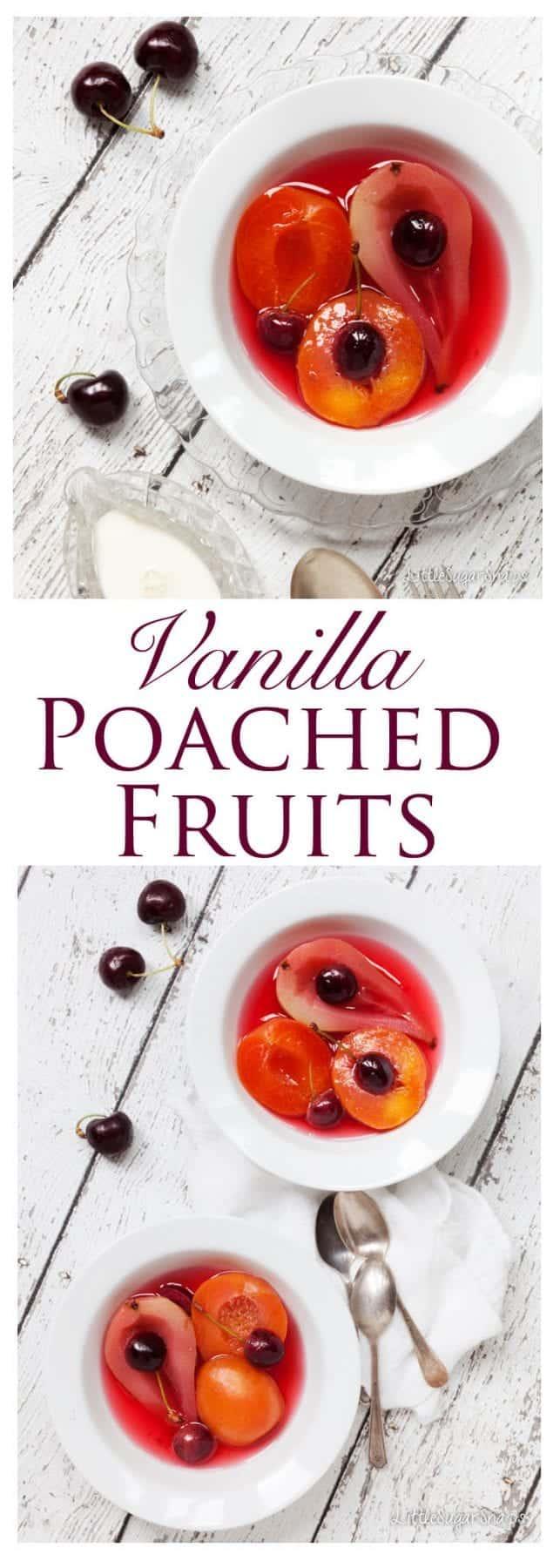 Vanilla Poached Fruit:Quintessentially English, Vanilla Poached Fruit ...