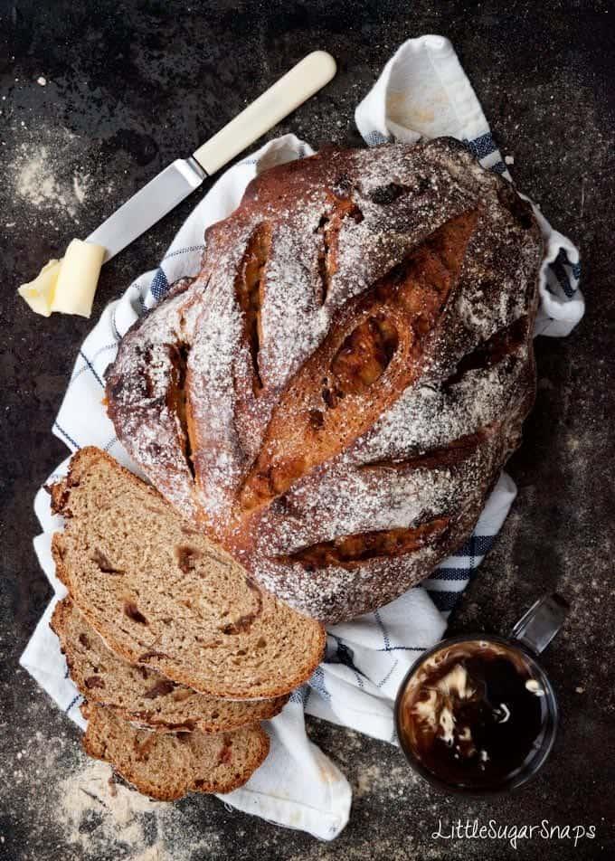 Homemade Coffee Date Rye Bread
