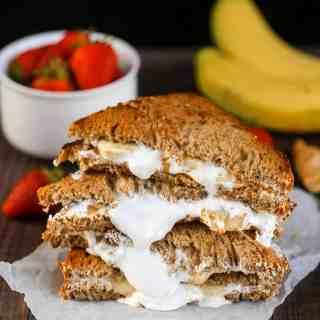 Grilled Banana fluffernutter sandwich
