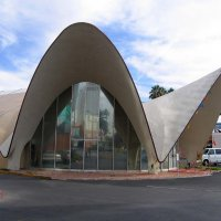 La Concha, a former motel now converted into the Neon Museum's visitor center