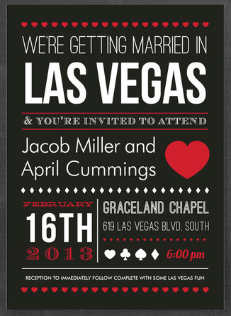 wedding invitations las vegas