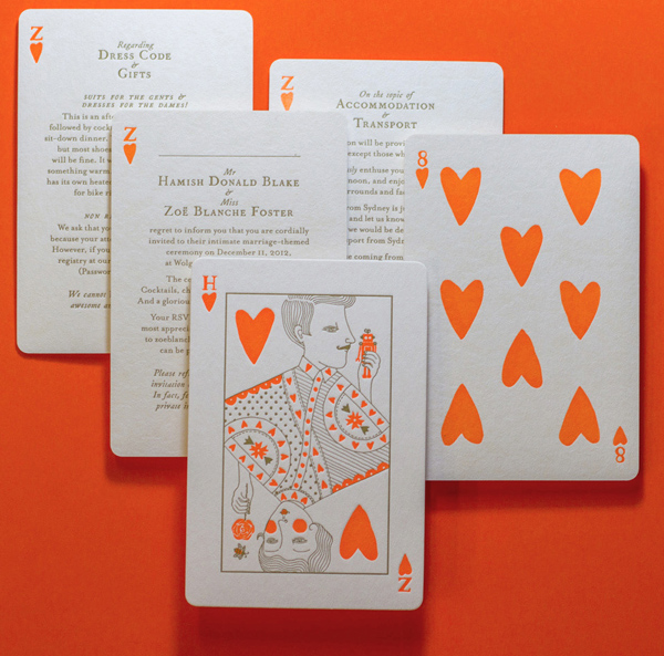 Vegas Style Playing Card Invitations by The Hungry Workshop
