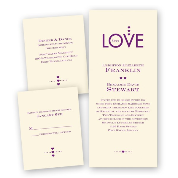 Discount Las Vegas Wedding Invitations | Little Vegas Wedding