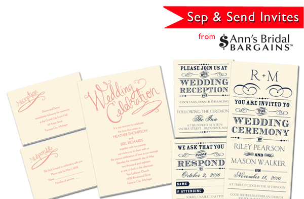 Ann's Bridal Bargains Invitations | Little Vegas Wedding