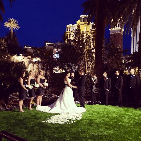 Mirage Volcano Wedding   Little Vegas Wedding