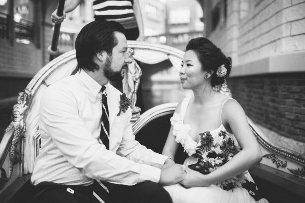 Venetian Gondola Elopement | Little Vegas Wedding
