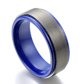 Blue Ceramic Ring  | 28 Unique Wedding Rings for Men