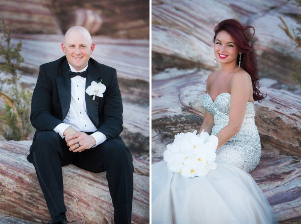 Elopement at Calico Basin | Little Vegas Wedding