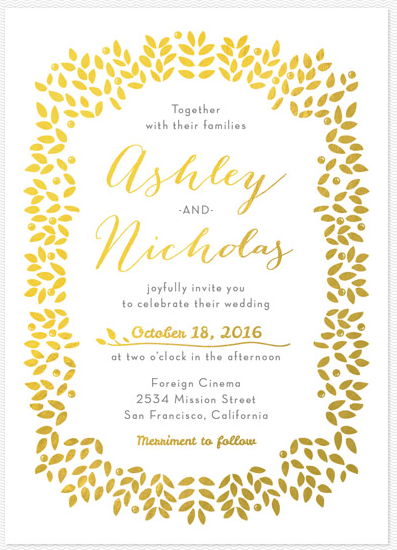 Modern Vegas Wedding Invitations | Little Vegas Wedding
