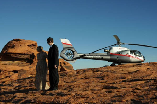 Maverick Helicopter Grand Canyon Wedding | Little Vegas Wedding