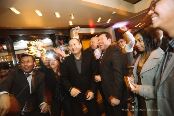 Maggianos Restaurant Reception   Little Vegas Wedding