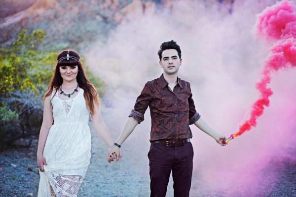 Desert Ghost Town Engagement | Little Vegas Wedding