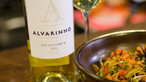 Alvarinho paired with New York chef Esther Choi's bibimbap. (Photo: Jenny Adams.)