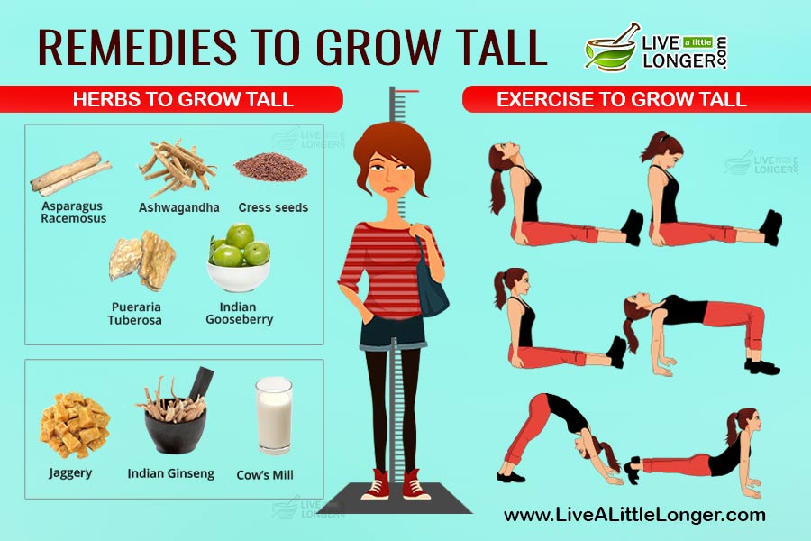 How To Increase Height? - 5 Exercises  5 Herbs for Grow Taller!