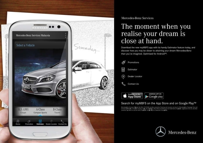 Mercedes benz services malaysia launches android version for Mercedes benz app for android