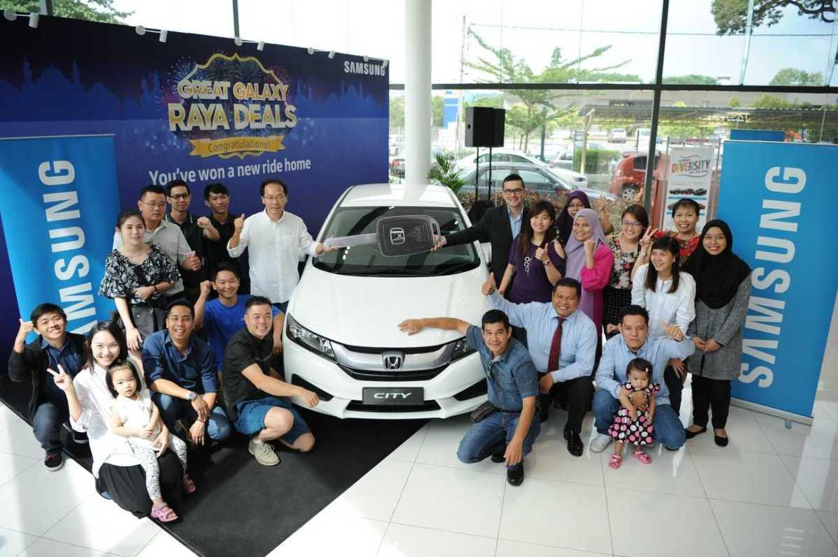 Honda City For 30 Samsung Galaxy Raya Deal Winners