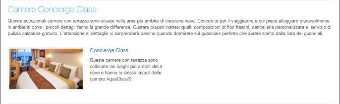 cabina concierge class