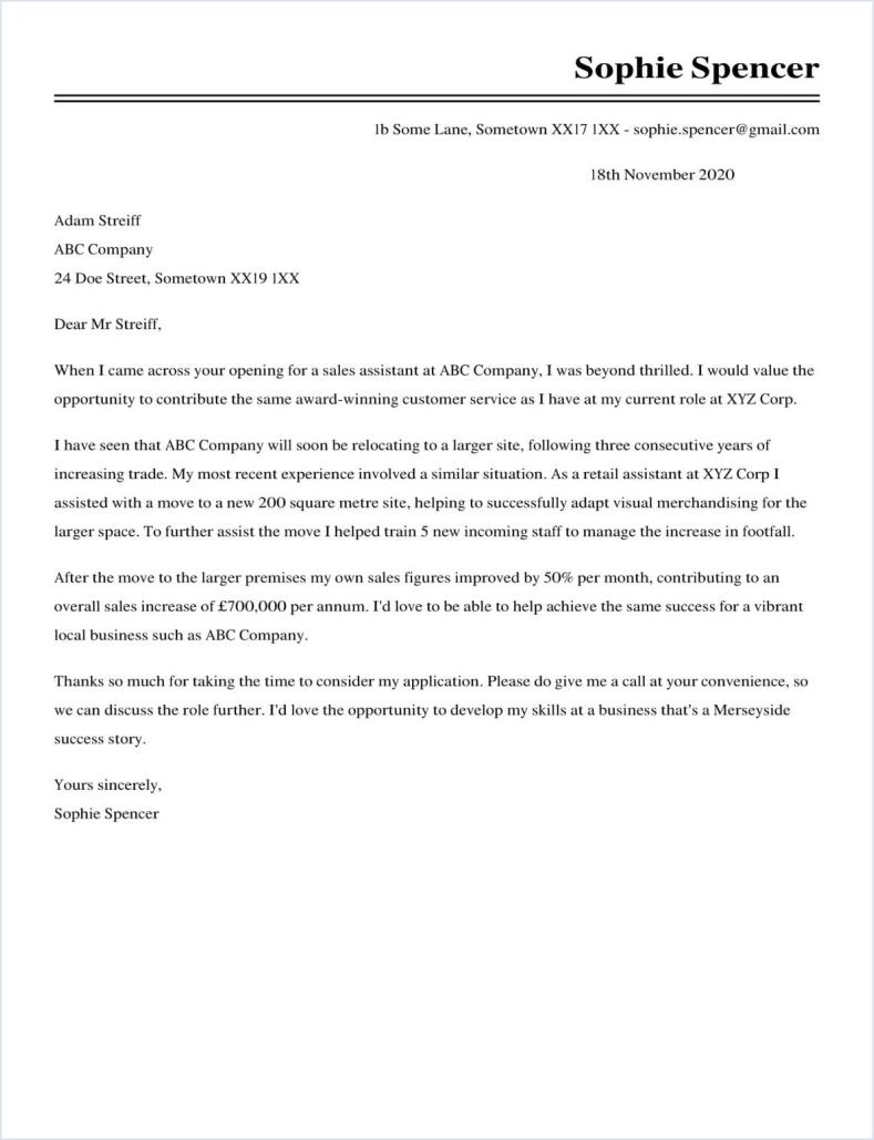 Sem Cover Letter Examples for Marketing LiveCareer