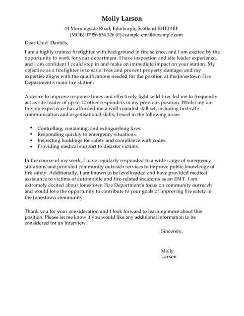 fire department cover letter - Solidgraphikworks - Fire Training Officer Sample Resume