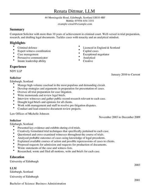trainee cv free template