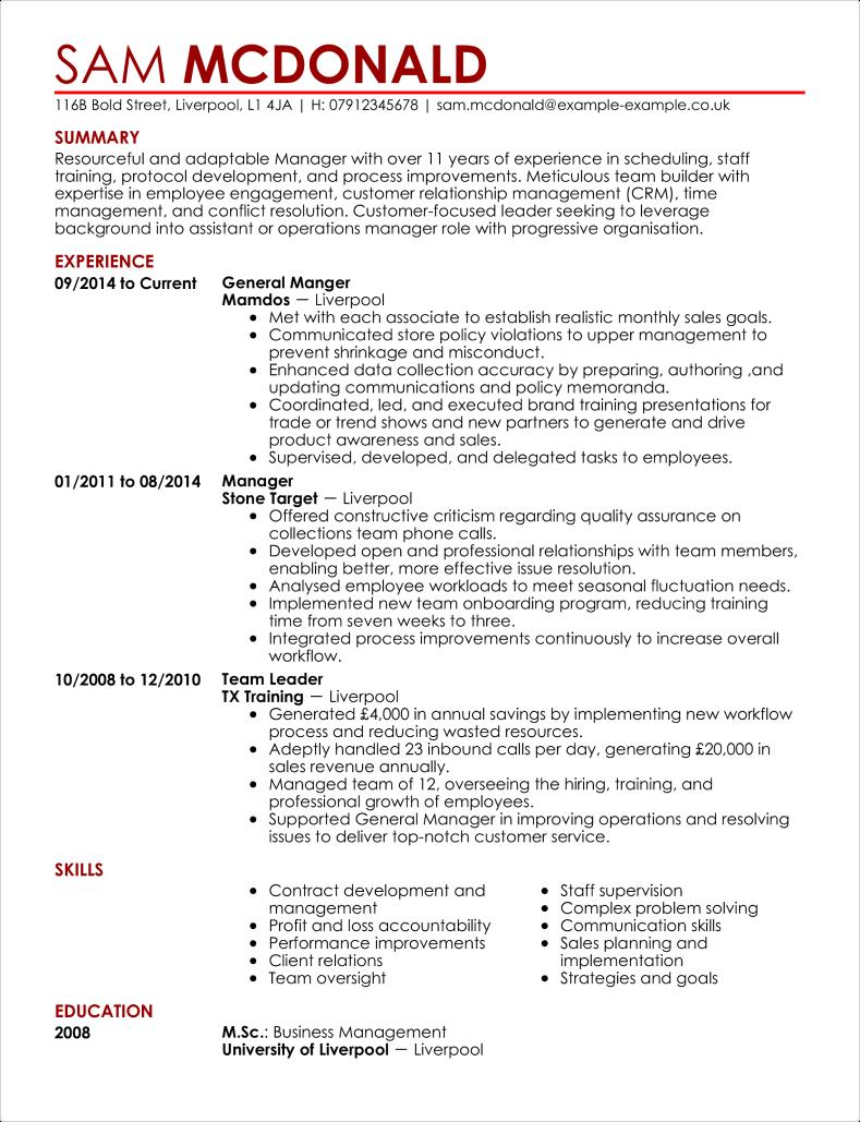 assistant secretariat cv