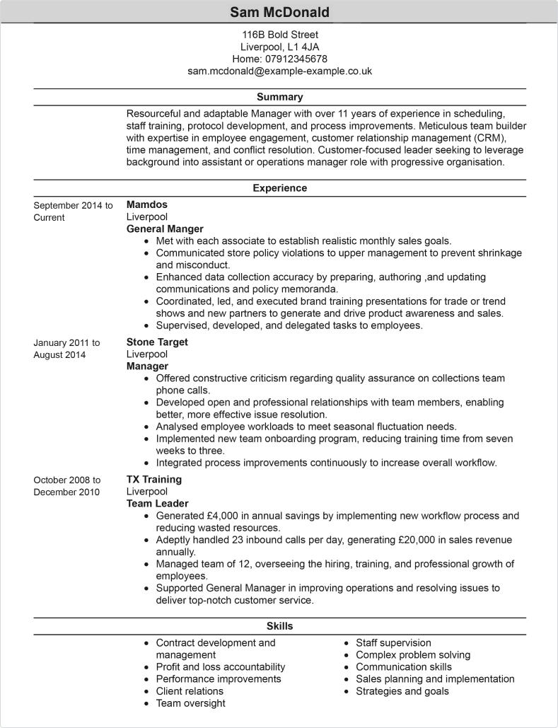 Teacher CV Template CV Samples  Examples - Academic Cv Template