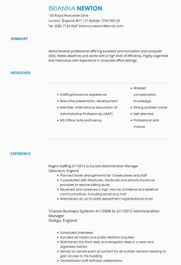 CV Samples CV Templates by Industry LiveCareer - cv it professional