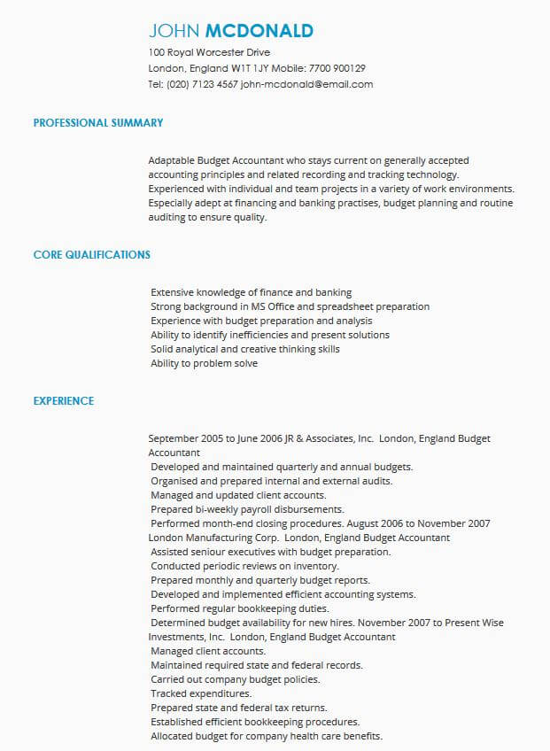 CV Samples CV Templates by Industry LiveCareer - example resume uk