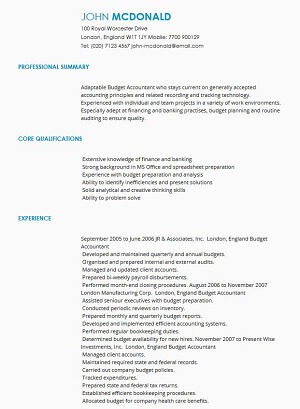 CV Samples CV Templates by Industry LiveCareer - curriculum vitea sample