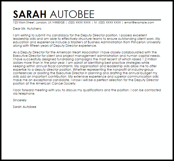 account executive cover letter samples