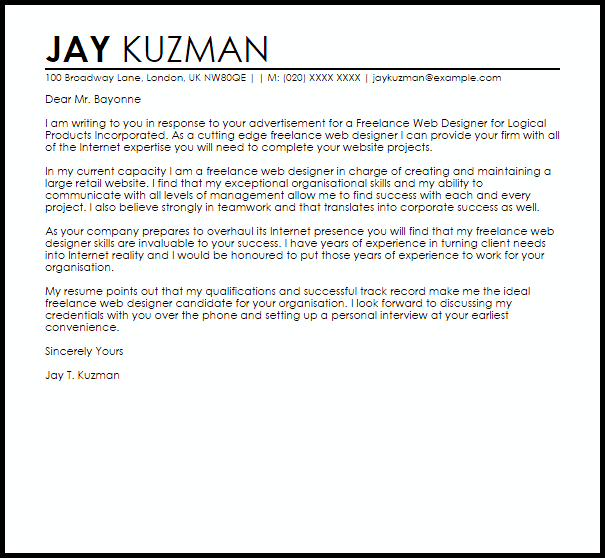 need help writing a cover letter